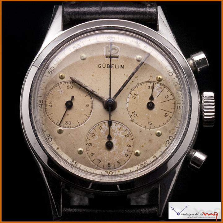 Gubelin Chronograph Watch Movement Caliber 72 Manual Wind