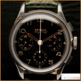 Benrus Sky Chief Vintage Chronograph Gilt Dial Year 1950 Rare