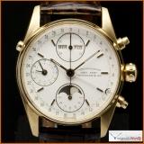 "Eberhard & Co. Triple Date ""Navy Master"" Chronometer Chronograph"