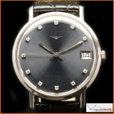 Longines Flagship Automatic 18k White Gold with Diamonds Rare!