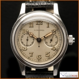 Longines Single-Button Chronograph Case Stainless Steel Rare!