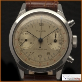 Mulco Antimagnetic Chronograph Watch, Movement Caliber 22 Manual