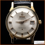 Omega Constellation Calendar Automatic Two Tone Pie Pan Dial