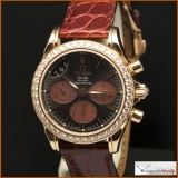 Omega De Ville Co-Axial Chronograph Ladies Watch 18K Rose Gold