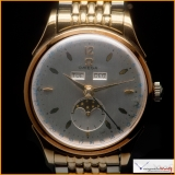 Omega Triple Date Moon Phase Ref 2606-1 Manual Wind Stainless Steel and Yellow Gold