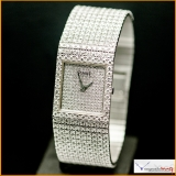 PIAGET 18K WHITE GOLD AND DIAMOND-SET BRACELET WATCH CIRCA 1980 REF 9154