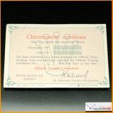 Rolex Certificate Chronometer GMT 6542 DAYTONA Ref  6263...Stock #01-PRO