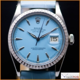 Rolex DateJust Ref 1603 Custom Blue Stella Color Dial