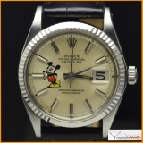 Rolex Date-Just Ref 1601 with logo Mickey Mouse Rare !