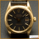 Rolex Date-Just Ref 1601 Case 18K Diamonds Dial Original Rare !