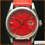 Rolex Datejust Ref.1601 Custom Dial Stella Red Color