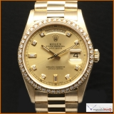 Rolex Day-Date Ref 18238 Case 18K Yellow Gold Diamonds Dial Orig