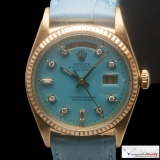 Rolex Day-Date Ref 1803 Custom Turquoise  Stella Color Dial with Diamonds