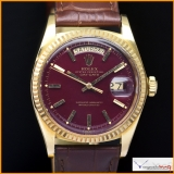 Rolex Day-Date Ref 1803 Custom Oxblood  Color Dial