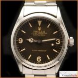 Rolex Explorer I Ref 5500 Gilt Dial Super Glossy Rare!