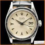 Rolex OYSTERDATE PERPETUAL Ref 6535 with Honeycomb Dial Rare !