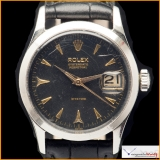 """Rolex Oyster Date Perptual Honeycomb Dial """"Rite Time"""" Ref 6518 Rare!"""