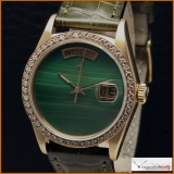 Rolex Day-Date Ref 18038 with ultra rare Green Malachite