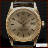 Rolex Oyster Perpetual Date-just ref 6605 Case 18K Yellow Gold