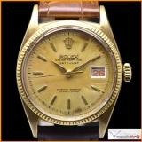 Rolex Oyster Perpetual Datejust ref 6605 Case 18K Yellow Gold