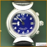 The Royal Diamond World Time Watch Official Chronometer 18K White Gold Limited Edition Oman Logo Rare !