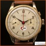 Vintage Alverna Chronograph Suisse Case 18K Gold