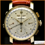 Vintage Eterna Case 14K Yellow Gold Chronograph Triple Date